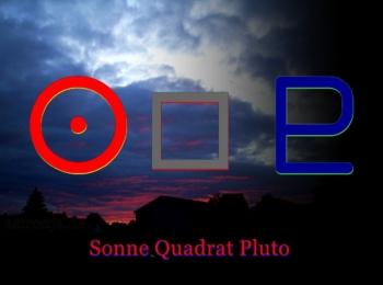 Pluto Quadrat Sonne